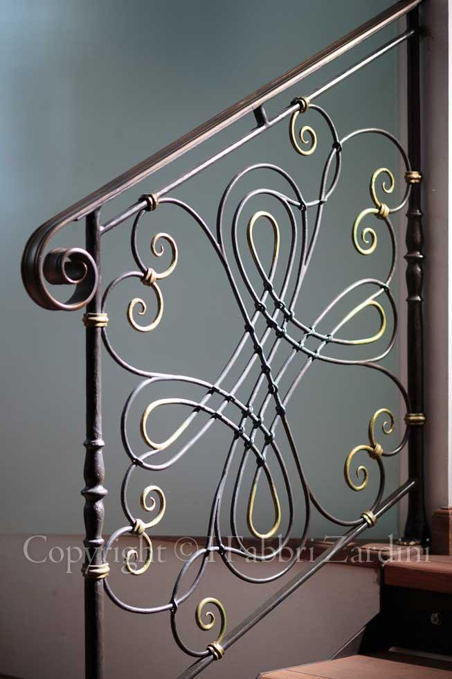 A9r7628 particolare di un parapetto per scale in ferro - Scale in ferro battuto per interni ...