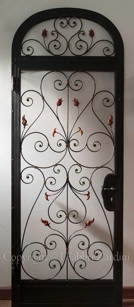 A9r8021 porta per interni con vetri temperati in ferro - Porta tv ferro battuto ...